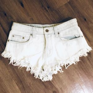 Carmar Shorts - Car Mar Distressed High Cut Jean Shorts